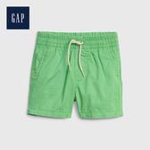 Gap 嬰兒 棉質純色鬆緊腰休閒褲 538796-綠色條紋