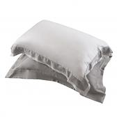HOLA 雅緻天絲素色歐式枕套 2入 暖褐