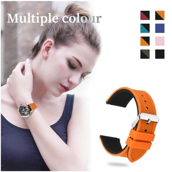硅膠橡膠手錶帶 通用天梭精工卡西歐天美時運動表帶 男女手錶錬 歐歐