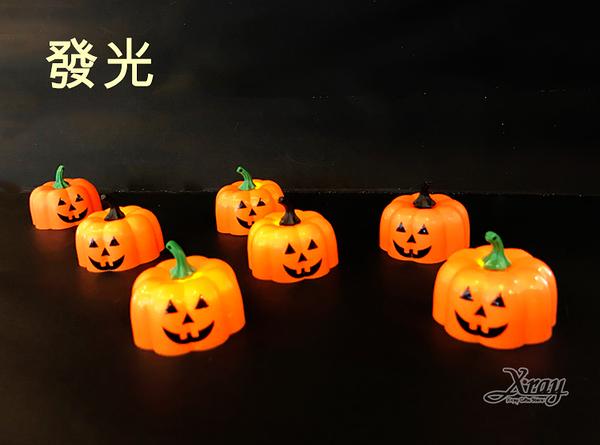節慶王【W400407】新南瓜小蠟燭燈(顏色隨機),萬聖節/蠟燭/派對/角色扮演/化妝舞會