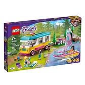 【南紡購物中心】【LEGO 樂高積木】Friends 好朋友系列 - 森林露營車和帆船41681