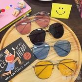 墨鏡 時尚個性夏季潮流新款復古時尚個性太陽眼鏡情侶大框男女透明墨鏡  『優尚良品』