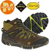 Merrell 男 GTX多功能健行鞋  32765 Allout Blaze Mid /Gore-Tex登山鞋/郊山健走鞋/黃金大底運動鞋
