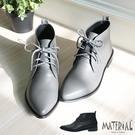 短靴 簡約綁帶尖頭短靴 MA女鞋 T2039