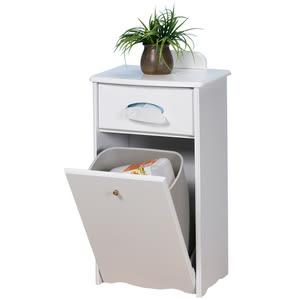 【Homelike】典雅歐風垃圾桶櫃(二色可選)純白色