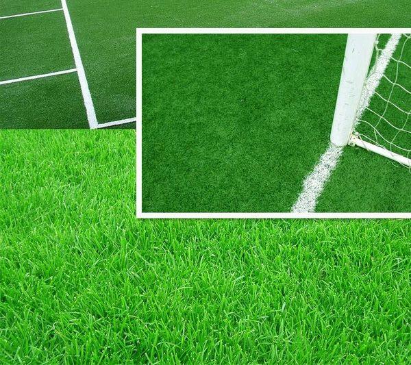 仿真草坪塑料草坪假草皮幼兒園人工綠色地毯墊子戶外陽台人造草坪  IGO