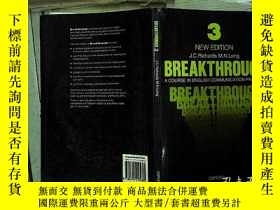 二手書博民逛書店Breakthrough罕見3:A Course in Engl