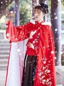 特賣古裝漢服女原創正品明制襖裙琵琶袖交領秋冬款古裝套裝中國風披風斗篷