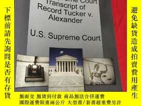 二手書博民逛書店U.S.罕見Supreme Court Transcript of Record Tucker V. Alexan
