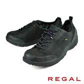 【REGAL】輕量透氣健步休閒鞋 黑色(258W-BL)