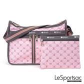 LeSportsac - Standard雙口袋A4大書包-附化妝包 (經典格紋/粉) 7507P F084