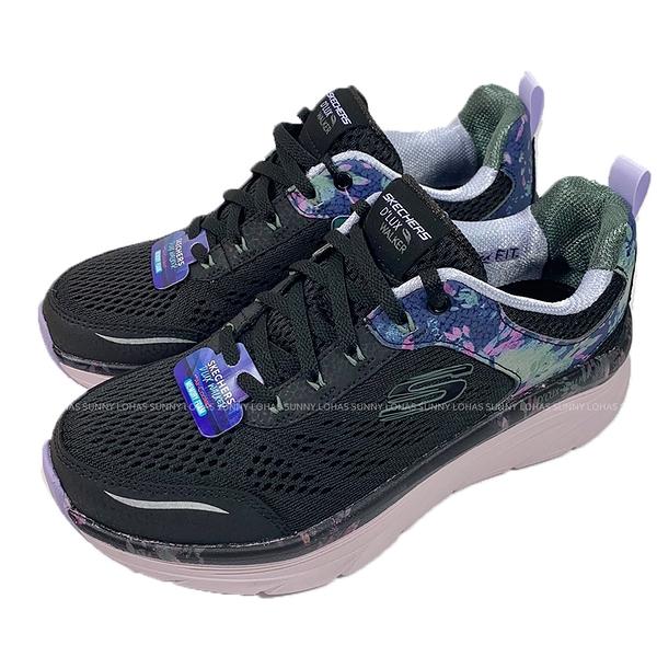 (C5) SKECHERS 女鞋 D'LUX WALKER健走鞋 運動鞋 厚底 避震 149609BKPR黑紫印花 [陽光樂活]