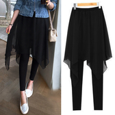 DE shop - 假兩件不規則裙褲 - XA-977