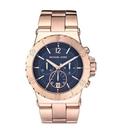 『Marc Jacobs旗艦店』美國代購 MK5410Michael Kors 玫瑰金經典刻度海軍藍時尚三眼腕錶|100%全新正品|