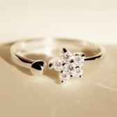 925純銀戒指-花朵精緻生日情人節禮物女飾品73af24【巴黎精品】