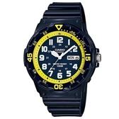 【CASIO】潛水設計運動指針錶-深藍X黃圈(MRW-200HC-2B)