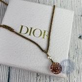 BRAND楓月 Christian Dior CD 迪奧 粉水晶JADIOR項鍊 墜飾 墜鍊 首飾 做舊 星星 金鍊