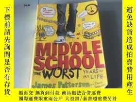 二手書博民逛書店英文原版:Middle罕見School, The Worst Y