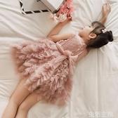 女童禮服 夏裝2女童公主裙子5中小童洋氣連衣裙6寶寶蓬蓬紗裙蛋糕禮服7歲潮 生活主義