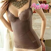內衣頻道7901 台灣製 重機能 腹部雙層布料提拉 馬甲式 胸罩束腹衣-B.C罩杯皆適合