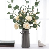 北歐莫蘭迪 簡約玻璃花瓶ins搭配擺件客廳干花插花花器家居裝飾品