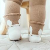 促銷嬰兒長筒襪寶寶護膝襪子嬰兒純棉加厚毛圈過膝中高筒兒童爬行襪防滑加長襪套 宜室