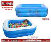 嬰兒游泳池保溫嬰幼兒童充氣戲水池寶寶洗澡桶家用大號新生兒浴盆igo     易家樂
