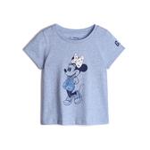 Gap女幼Gap x Disney迪士尼系列短袖T恤539793-灰色米妮趣圖案