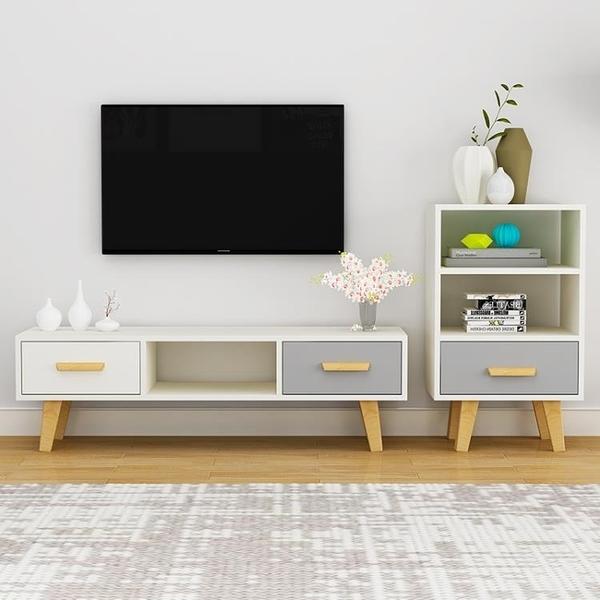 電視櫃 北歐電視櫃簡約現代客廳臥室小戶型電視櫃組合家具 一木良品