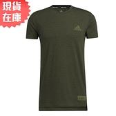 【現貨】Adidas Studio Tech 男裝 短袖 T恤 慢跑 訓練 吸濕排汗 前短後長 墨綠【運動世界】GM0628