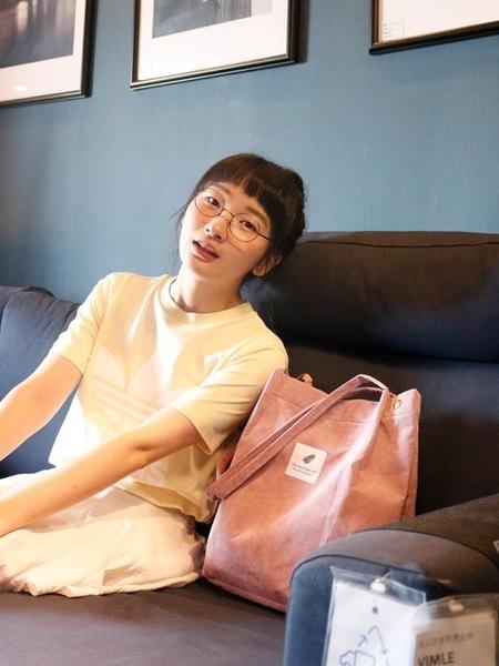 手提袋ulzzang帆布包女單肩文藝小清新學生大容量韓版原宿購物袋