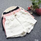 女童牛仔短褲黑白薄款外穿熱褲 E家人