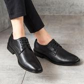 男皮鞋 正裝皮鞋 真皮新款夏季英倫正裝商務尖頭休閒鞋子男潮商務男鞋子《印象精品》q1485
