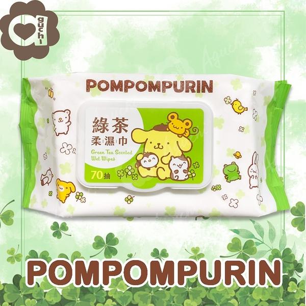 Sanrio 三麗鷗 布丁狗 綠茶有蓋柔濕巾/濕紙巾 (加蓋) 70 抽 特選水針布質地超柔軟