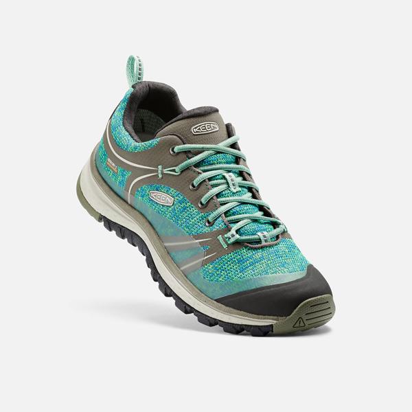 [KEEN] TERRADORA WP (女) 健行鞋 綠/灰 (173-1017190)