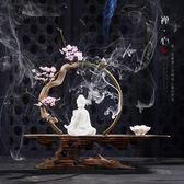 【新年鉅惠】新中式禪意陶瓷玄關擺件創意佛像家居客廳辦公室桌面軟裝飾品擺設