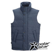 PolarStar 男 羽絨背心 │CNS 90/10羽絨 『黑藍』P15253