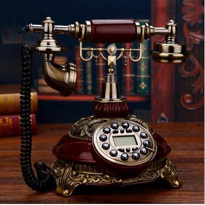 固定移動電信美式仿古電話座機聯通家用歐式無線插卡復古電話機 小山好物