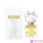 MOSCHINO 莫斯奇諾 熊芯未泯2女性淡香精 Toy2(50ml)-香水公司貨【美麗購】