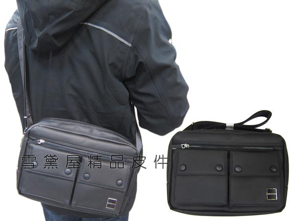 ~雪黛屋~STATE-POLO 斜側包中容量二層拉鍊主袋8吋平板進口防水防刮皮革材質肩背斜側背SD1776