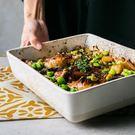 YAHOO618☸ 長方形盤子菜盤魚盤陶瓷烤盤大盤子托盤mousika