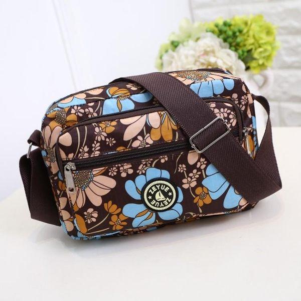 中年女包包尼龍帆布包中老年人媽媽包老人旅游女女單肩斜挎小背包  LannaS