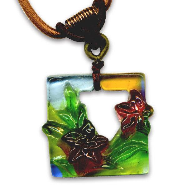 鹿港窯~居家開運水晶琉璃項鍊~水仙◆附精美包裝◆免運費送到家