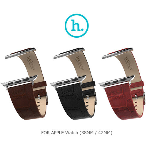 【現貨】愛瘋潮 HOCO Apple Watch (38mm / 42mm) 優尚皮錶帶 - 竹節款