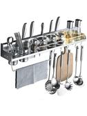 免打孔廚房置物架壁掛式收納架儲物架調料掛架子廚具用品用具架小明同學