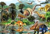 木質拼圖1000片成人拼圖減壓大型益智玩具恐龍世界【英賽德3C數碼館】