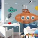兒童房墻紙男孩臥室女孩可愛墻布背景墻壁紙卡通3d【淘嘟嘟】