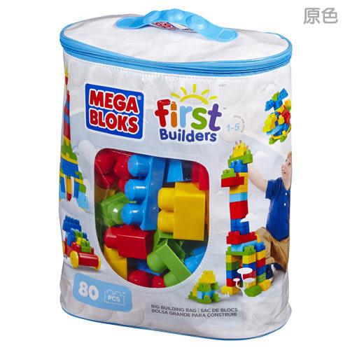【奇買親子購物網】MEGA BLOKS 美高80片積木袋/隨機出貨(原色/粉色)