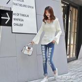 韓版秋冬中長款加厚麻花粗毛線針織寬鬆慵懶毛衣女套頭 可可鞋櫃