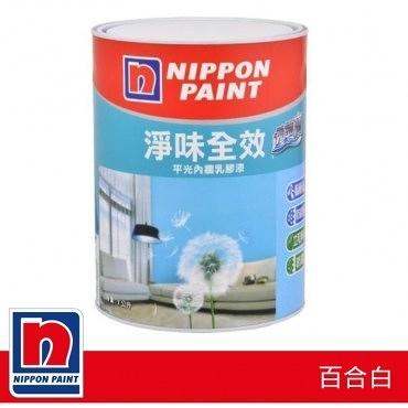 Nippon Paint 立邦 淨味透氣寶平光內牆乳膠漆 1L 百合白